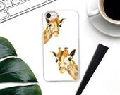 Sweet Giraffe Phone Case - Minimal, Watercolor Original Art - Animal iPhone XR  XS Max, Samsung Galaxy S9 Case