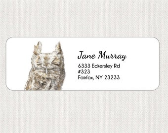 raccoon return address labels stickers personalized etsy