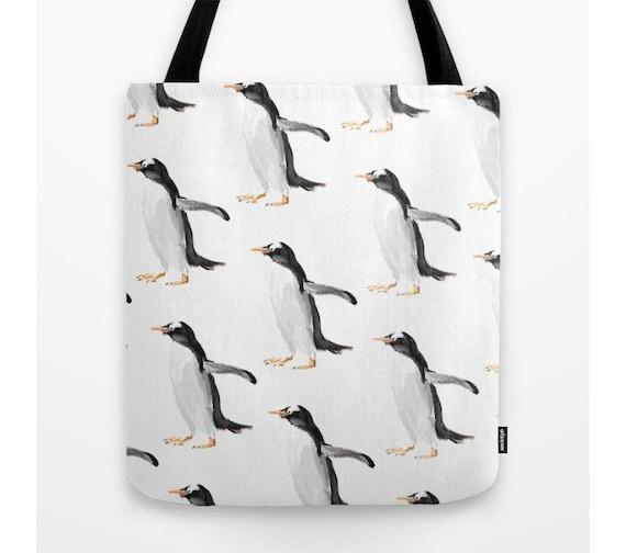 Penguin Book Cover Tote Bag : Penguins tote bag book penguin casual school
