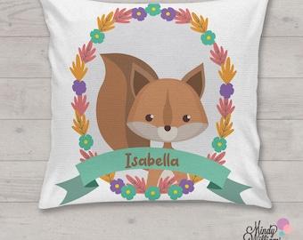 Squirrel - Personalised cushion
