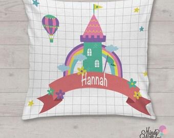 Rainbow Tower - Personalised cushion