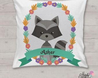 Racoon - Personalised cushion
