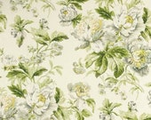 One 40 quot W x 18 quot L Custom LINED Faux Roman Shade Valance - Floral Spring - Green Yellow Grey White