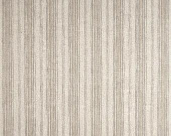 One Body Pillow Cover 20 x 46  - Cotton Stripe - Beige