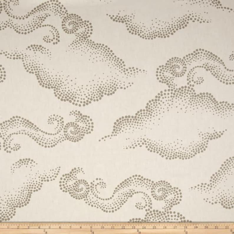 Robert Allen Dwell Studio Cloudburst Linen Two 26 x 26  Designer Decorative Euro Pillow Covers