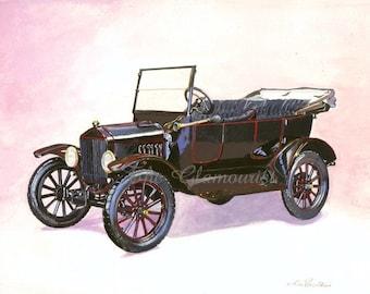 il_340x270.306775330 1919 ford model t diagram poster! blueprint classic cars