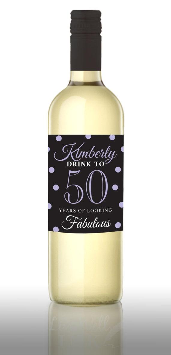 custom happy birthday wine labels personalized birthday gift etsy