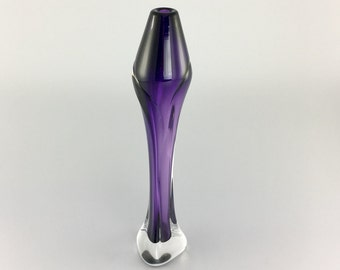 Hand Blown Glass - Amethyst Tapered Bud Vase by Jonathan Winfisky