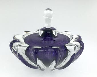 SPECIAL Hand Blown Glass Perfume Bottle - Purple #2 Optic  by Jonathan Winfisky
