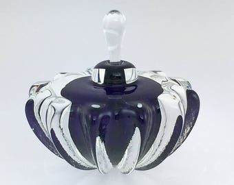 SPECIAL Hand Blown Glass Perfume Bottle - Purple #4 Optic  by Jonathan Winfisky