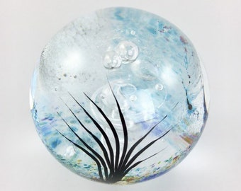 Glass Papereweight  - Round Seascape - by Jonathan Winfisky