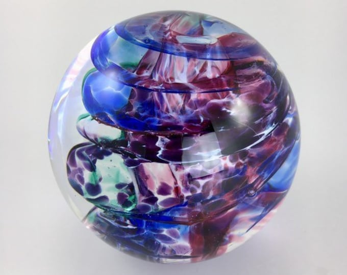 Featured listing image: Hand Blown Glass Paperweight  - Solid Swirl Weight by Jonathan Winfisky