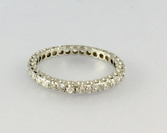 Diamond Platinum Wedding Band - Engagement Ring - Eternity Band