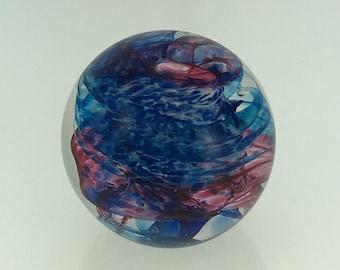 Hand Blown Glass Paperweight  - Solid Swirl Weight by Jonathan Winfisky