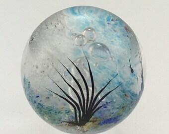 Glass Papereweight  - Round Seascape - by Jonathan Winfisky