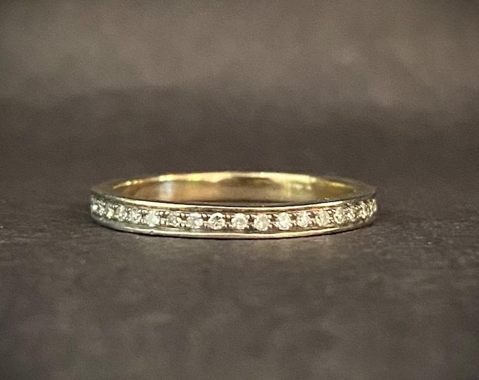 Diamond Eternity Band - Wedding Band - 14k White Gold