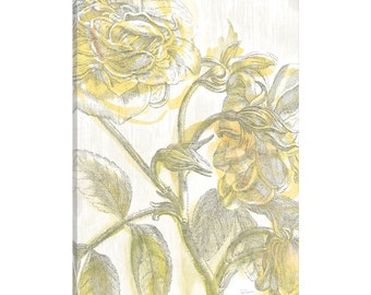 iCanvas Belle Fleur Jaune I Gallery Wrapped Canvas Art Print by Sue Schlabach