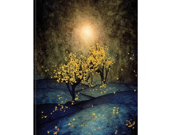 iCanvas Yellow Autumn Gallery Wrapped Canvas Art Print by Viviana Gonzalez