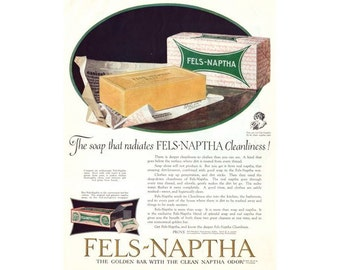 Instant Download Printable Art, Fels-Naptha Soap Ads, Laundry Room Decor, Laundry Room, Vintage Ad, Wall Art Decor, Digital Download
