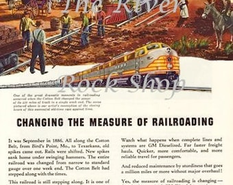 Then and Now GM Diesel Train Engines Vintage Advertising - Digital Download
