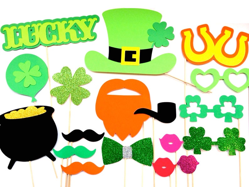 St. Patrick's Day Photo Booth Props  18 piece prop set  image 0