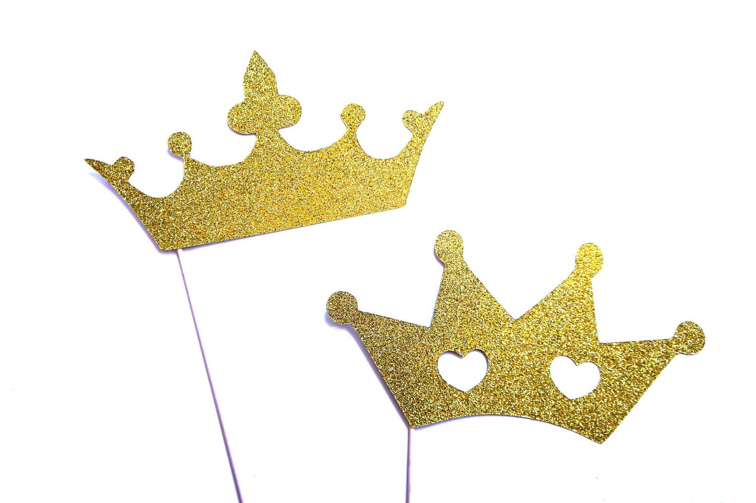 Photo Booth Props Prom King and Queen Crowns with GLITTER