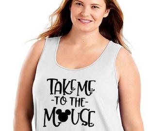 77ceb931802c0f Plus Size Disney Tank Top Plus SIze Mickey Minnie Shirt  DIsney World Shirt   Plus Size Disney Shirts  Plus Size Disney T Shirt Minnie Tank