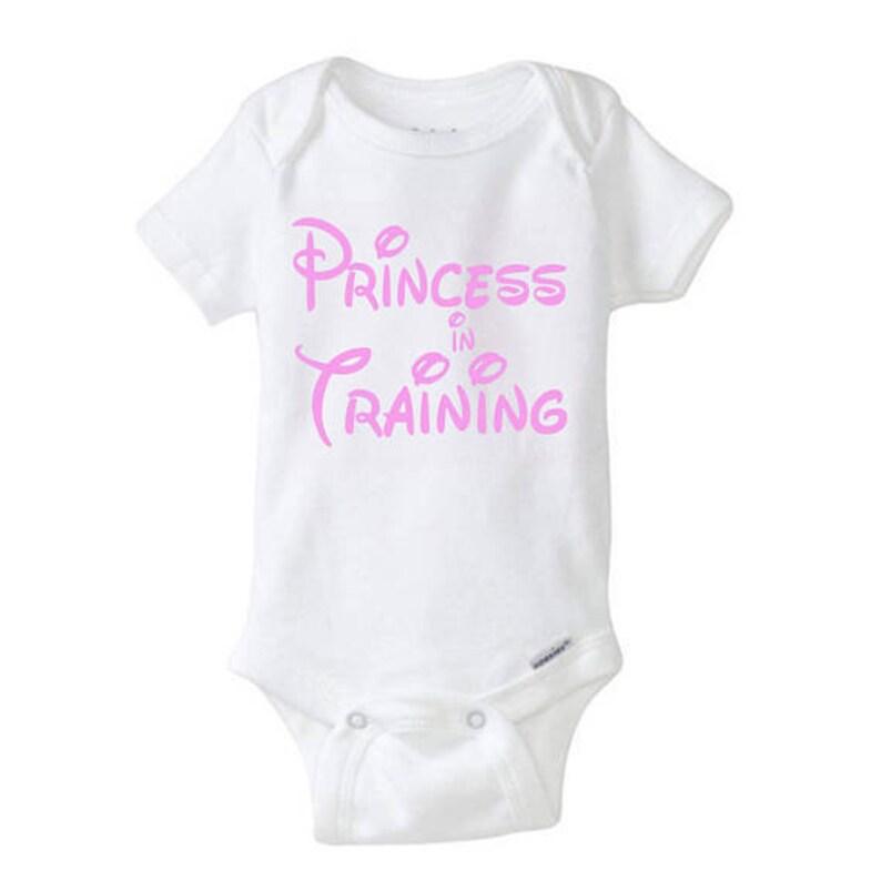 c30821768 Princess In Training Onesie Disney Baby Shirt Disney Family   Etsy