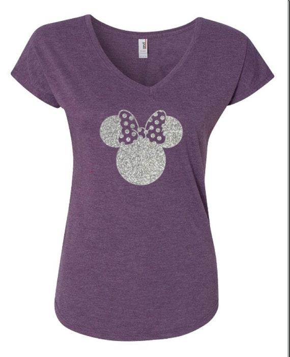 Disney Shirts  Glitter Minnie Shirt  Disneyland Shirt  DIsney  2720305a5f