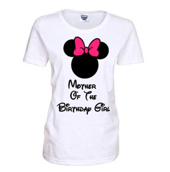 cc8fe8d1f0de0 Mother of the Birthday Girl Minnie Mouse Shirt Mother of the