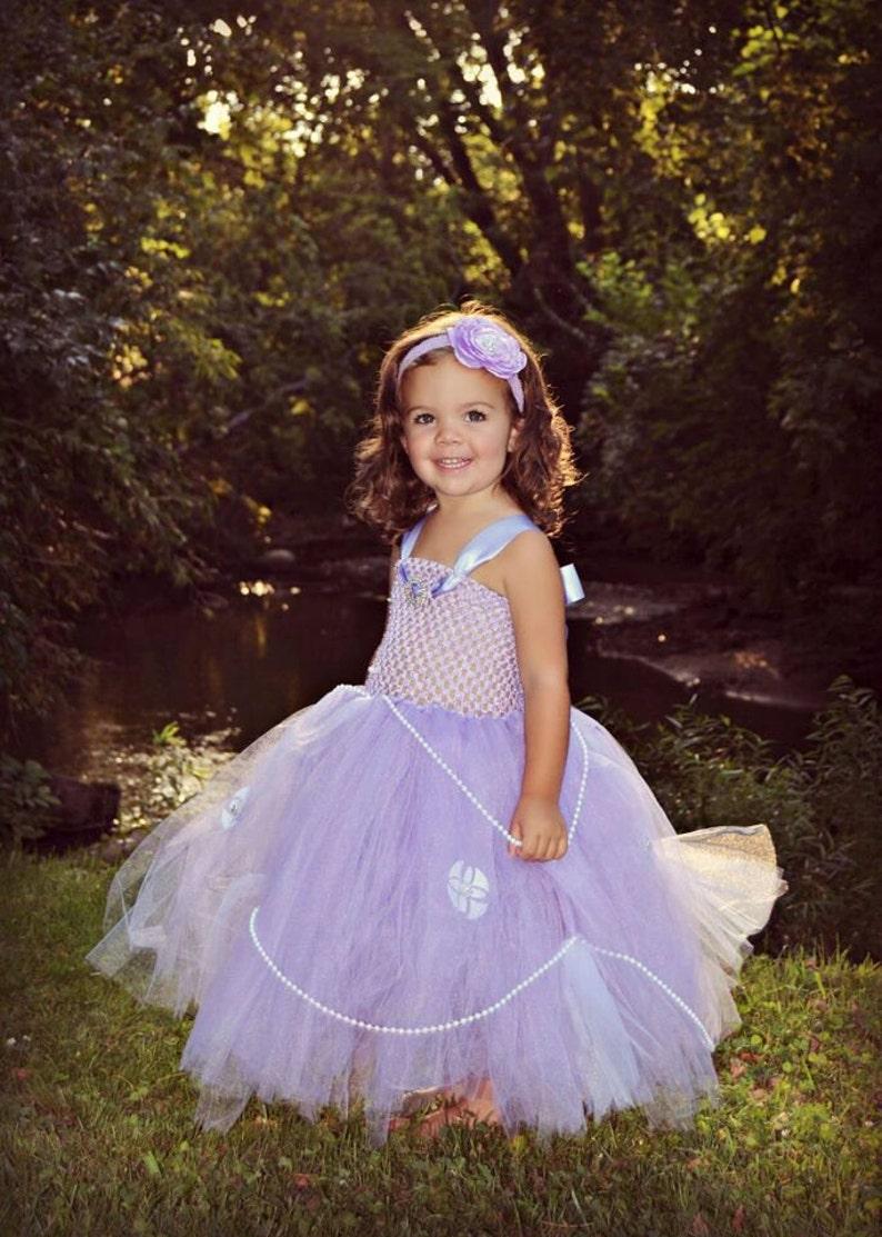 1bec6045eb FULL OUTFIT Sofia the First Baby Girls Tutu Dress   Headband