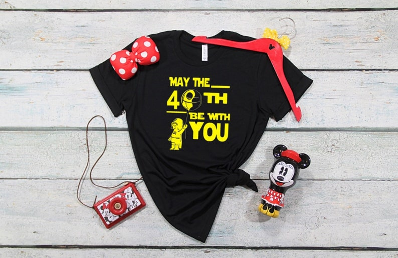 ef8575231 May the 40th Be With You Birthday Shirt Disney Birthday | Etsy