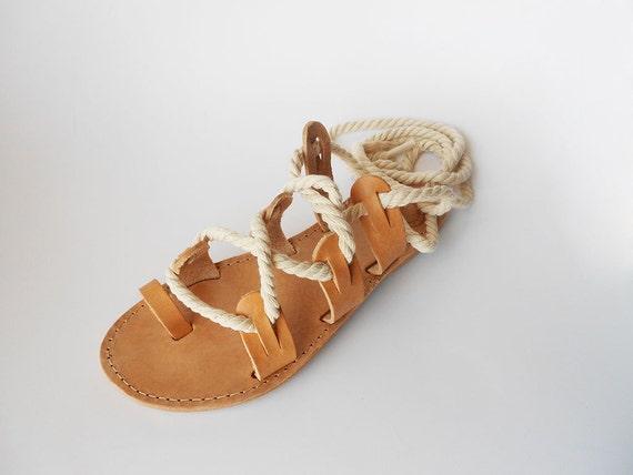 Rope Summer Sandals Boho Sandals Sandals Greek Sandals Gladiator Sandals Leather Lace up Sandals Sandals Sandals Leather Beige wTU00q