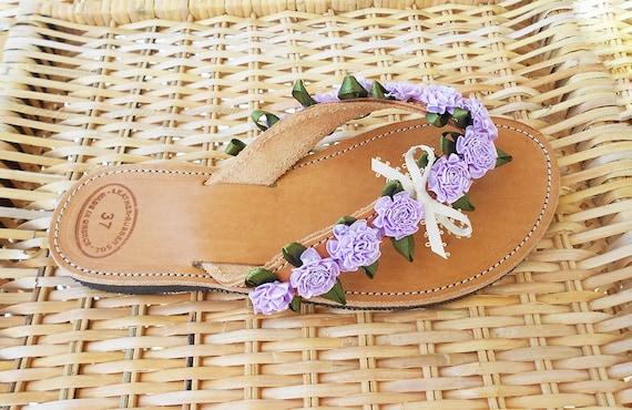 Lilac Flip Flops Lilac Bridal Sandals