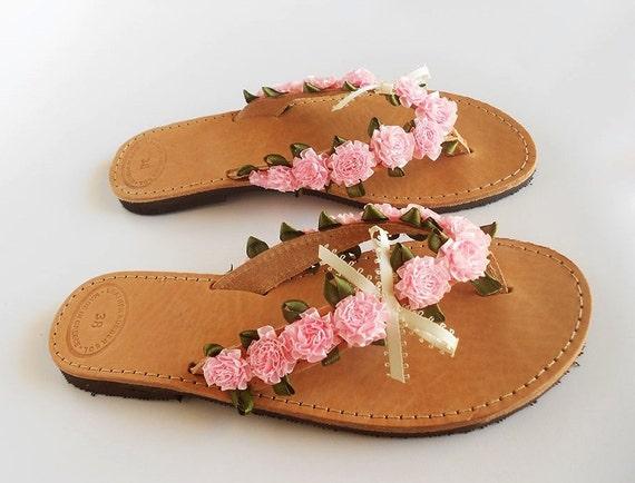 ecf013b5cc877e Pink Flip Flops Pink Bridal Sandals Wedding Flip Flops