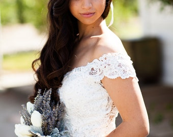 Lavender Halo - Real Dried Flower Crown - Bridal Hair Wreath for Engagement Photos / Wedding