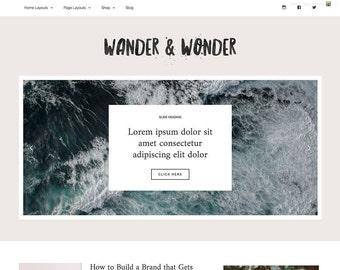 Wordpress Theme | Responsive Wordpress Theme | Wander & Wonder