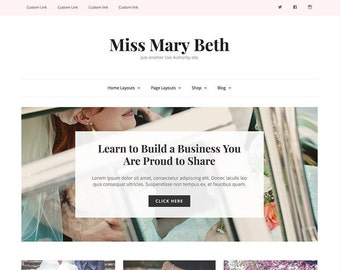Wordpress Theme | Responsive Wordpress Theme | Miss Mary Beth