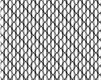 Oval Lattice sm - laser engraved texture sheet pattern for rolling mill and metal clay