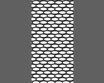 Oval Lattice small horizontal cuff - laser engraved texture sheet pattern for rolling mill and metal clay