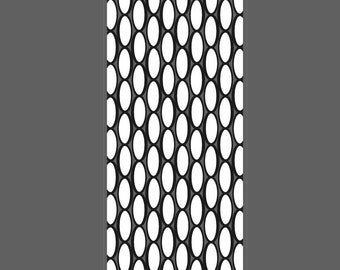 Oval Lattice large vertical cuff - laser engraved texture sheet pattern for rolling mill and metal clay
