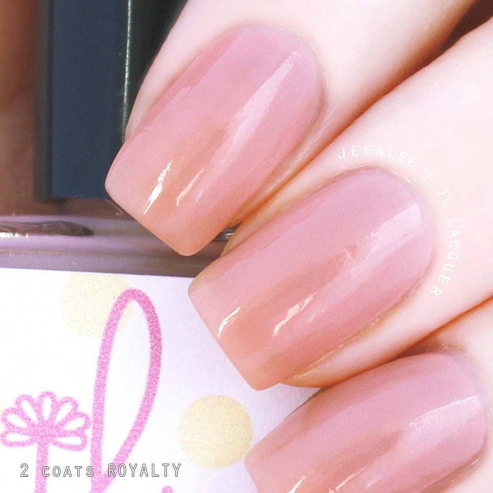 Rosaceae.022 Sheer Nude Pink Nail Polish with Holographic