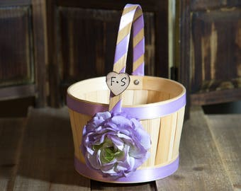 Small Tan Flower Girl Basket Other color selections available