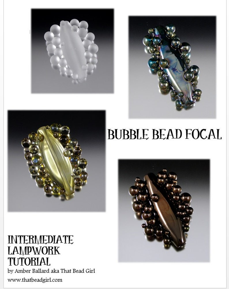Intermediate Lampwork Tutorial  Bubble Focal Beads by That image 0