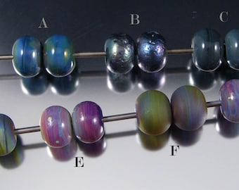 Earring Pairs - Handmade Lampwork Glass Beads by That Bead Girl - Color shifting and Metallic
