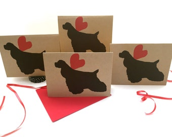 Cocker Spaniel Card Sets - Thank You Cards Bulk - Holiday Christmas Pack - Valentines Day - Gifts for Dog Lovers - Pet sympathy - Birthday
