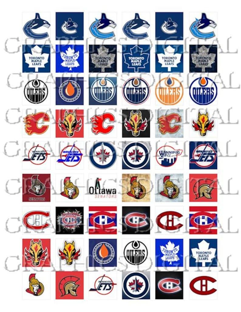 National Hockey League Canadian Hockey Logos Sports Digital Etsy
