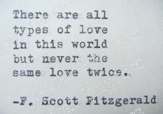 F SCOTT FITZGERALD Digital Download Love Quote Made On Typewriter Instant  Digital Download From GraphicsDigital On Etsy Studio