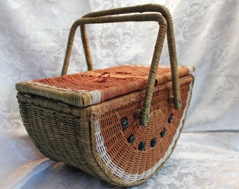 Watermelon Wicker Basket Royal Imports