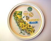 Pair of Souvenir Disney World, Florida and Disneyland, California Tin Plates